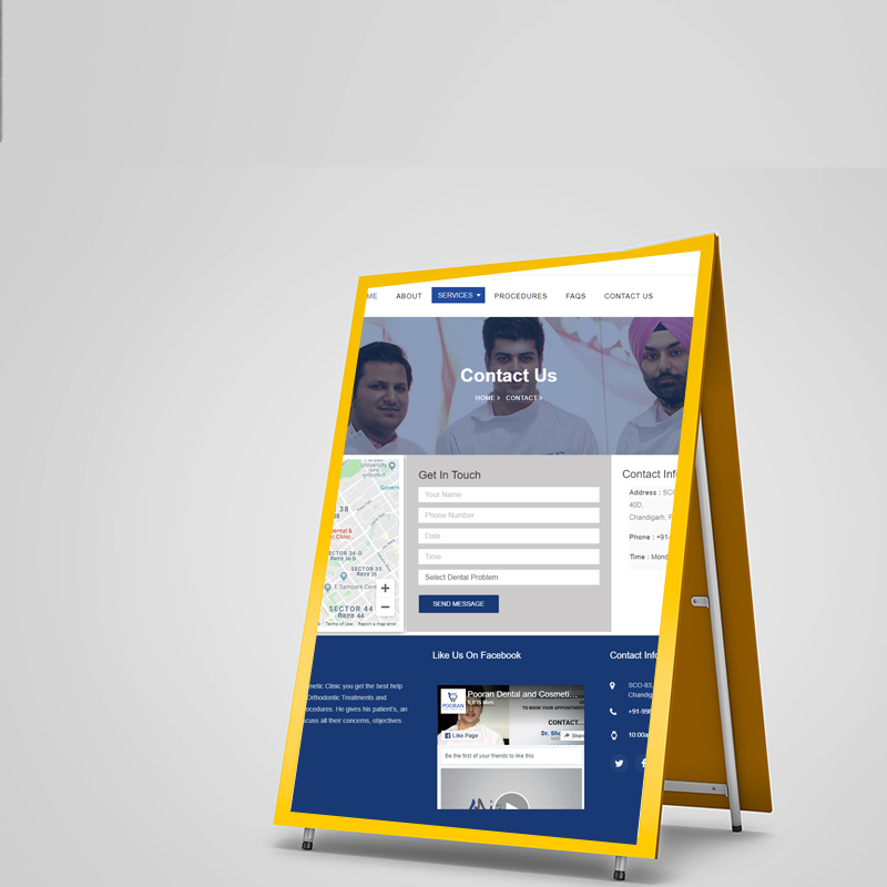 Pooran Dental Clinic Desktop